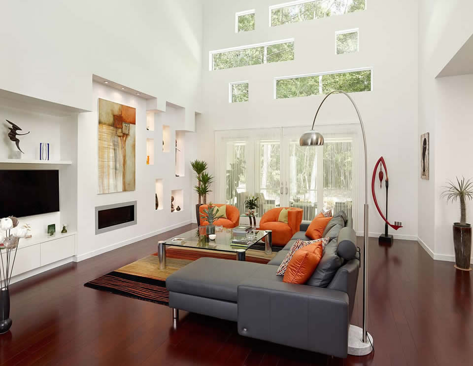 Mount Pleasant Contemporary Living Room