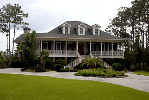Msp custom homes inc lowcountry cottage for Low country homes